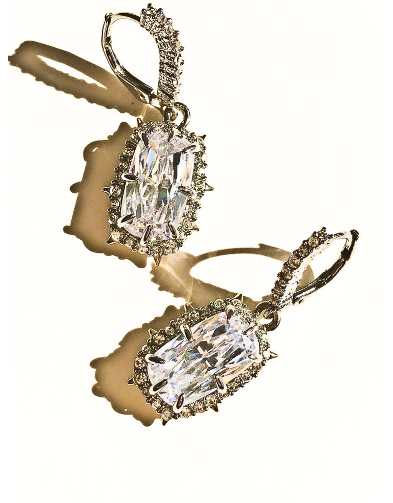 ALEXIS BITTAR Crystal Encrusted Quartz Drop Earrings