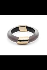 ALEXIS BITTAR Liquid Capped Hinge Bracelet - Rose Grey
