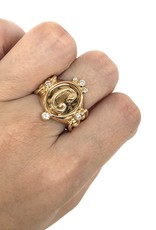ERICA COURTNEY 18K Initial Oval Ring