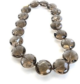 ERICA COURTNEY 18K Smoky Quartz Necklace