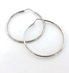 ERICA COURTNEY 18K Skinny White Gold Hoop