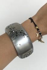 ALEXIS BITTAR Noir Dust Large Hinge Bracelet - Grey