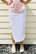 TEE LAB Long Fleece Skirt - White