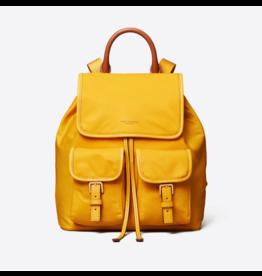 TORY BURCH Flap Golden Crest Backpack