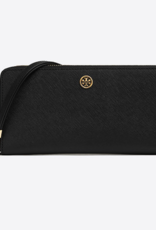 TORY BURCH Robinson Passport Continental Wallet - Black