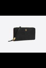 TORY BURCH Robinson Passport Continental Wallet - Black