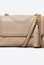 TORY BURCH Fleming Small Convertible Shoulder Bag - Light Taupe