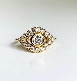 SYDNEY EVAN Extra Large Evil Eye Ring - Size 6