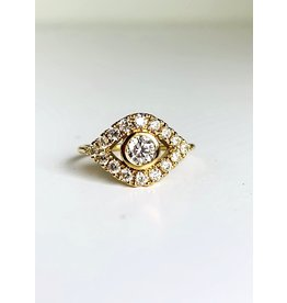 SYDNEY EVAN Extra Large Bezel Evil Eye Ring