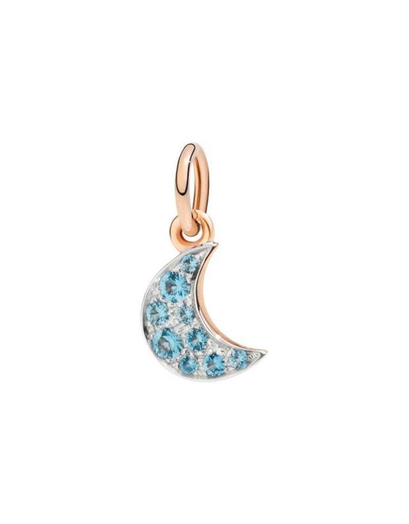 DODO Blue Topaz Moon Charm