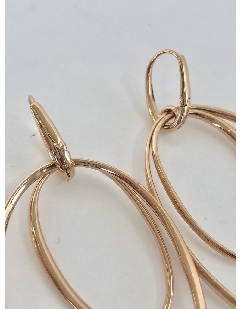 POMELLATO Rose Gold Double Hoop Earring