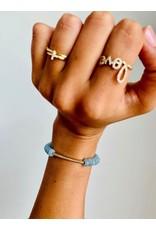 SYDNEY EVAN Aquamarine & Diamond Bar Bracelet