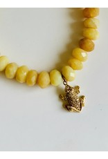 SYDNEY EVAN Yellow Opal & Diamond Frog Bracelet