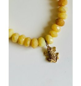 SYDNEY EVAN Yellow Opal with Frog Charm Bracelet