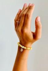 SYDNEY EVAN Yellow Opal & Diamond Frog Bracelet