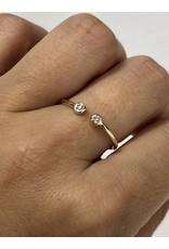 MIZUKI 2 Diamond Open Ring
