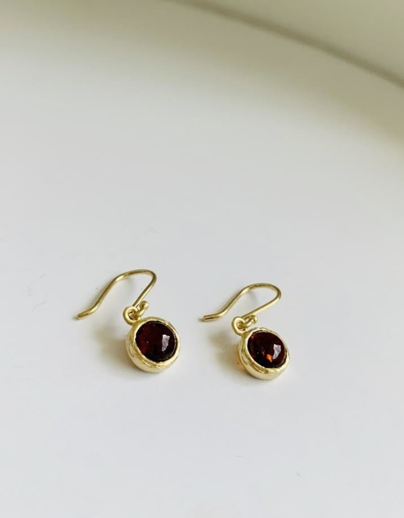 PAGE SARGISSON Fiery Orange Tourmaline Hook Earring