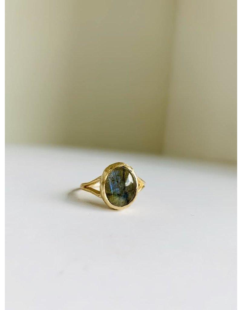 PAGE SARGISSON 10KT Labradorite Ring