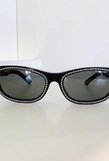CELINE 4086 - Black with Crystal Studs