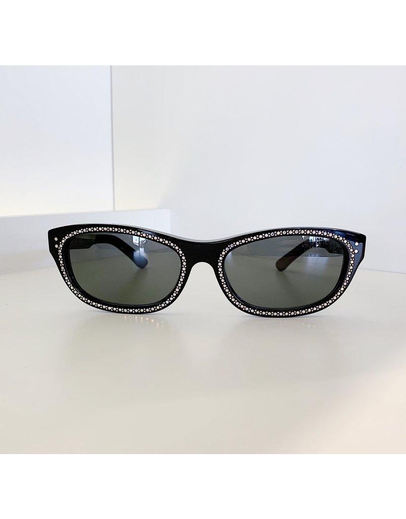 CELINE 4086IS - Black with Crystal Studs