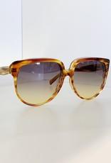 CELINE 4048 Oversized - Striped Brown/Honey Lens