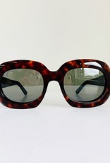 CELINE 40070 Oversized Oval - Red Havana