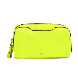 ANYA HINDMARCH Girlie Stuff Pouch Neon Yellow Nylon
