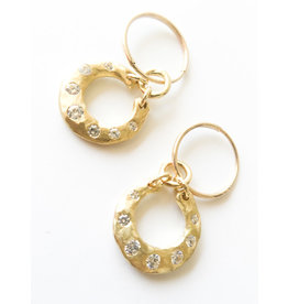 BREVARD 18K Crescent Earrings