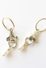 BREVARD Sterling Silver Venice Earrings with Pearl