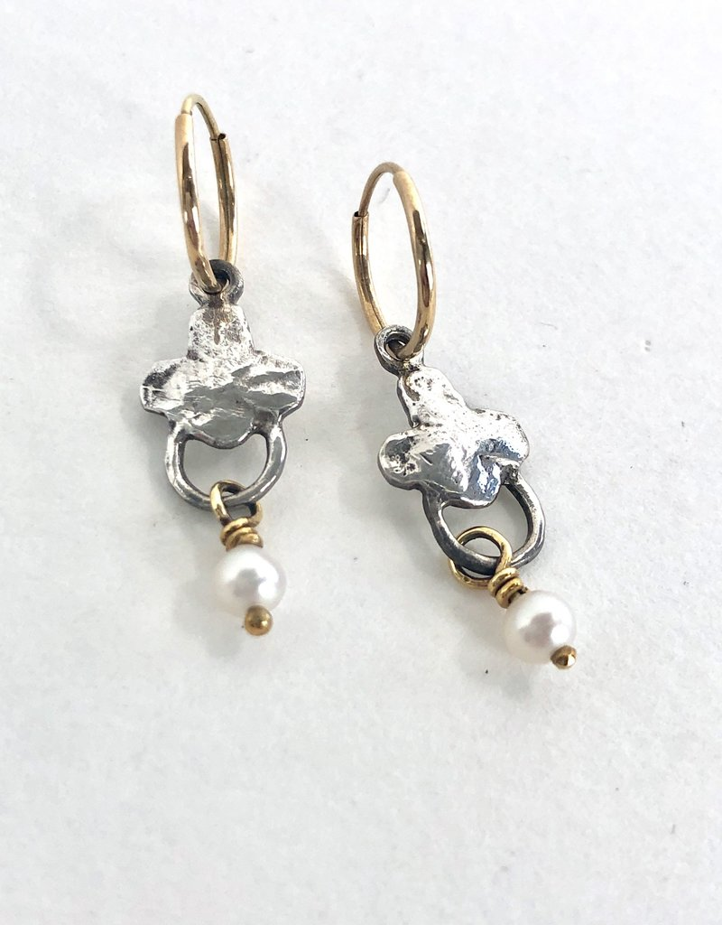 BREVARD Sterling Silver Venice Earrings with Pearl