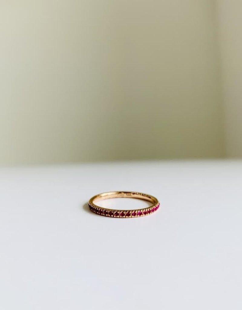 SYDNEY EVAN Ruby Eternity Band Ring
