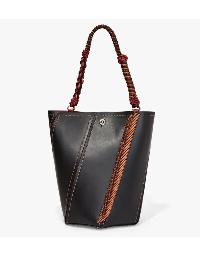 PROENZA SCHOULER Crochet Medium Hex Bucket Bag - Black