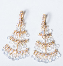 ERICA COURTNEY Christmas Tree Moonstone Earrings