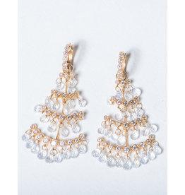 ERICA COURTNEY Christmas Tree Moonstone Earrings