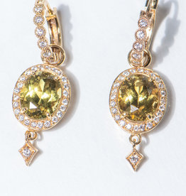 ERICA COURTNEY 18K Mali Garnet Drops