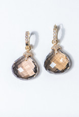 ERICA COURTNEY 18K Smoky Quartz Drops