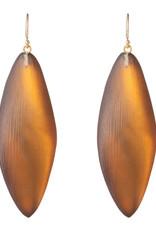 ALEXIS BITTAR Long Leaf Earring - Amber