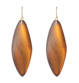 ALEXIS BITTAR Long Leaf Earring - Amber