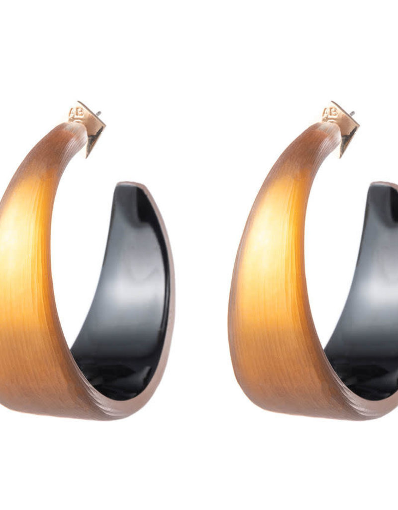 ALEXIS BITTAR Wide Graduated Medium Hoop - Amber
