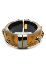 ALEXIS BITTAR Georgian Stone Studded Hinge Bracelet - Amber