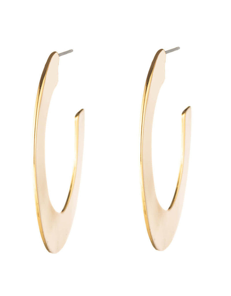 ALEXIS BITTAR Liquid Metal Hoop Earring - Gold