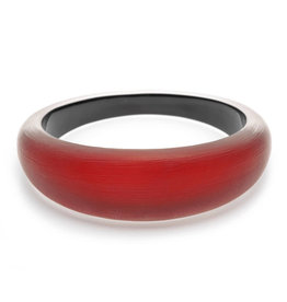 ALEXIS BITTAR Medium Tapered Bangle - Wine Red