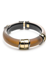 ALEXIS BITTAR Two Tone Sectioned Hinge Bracelet - Amber