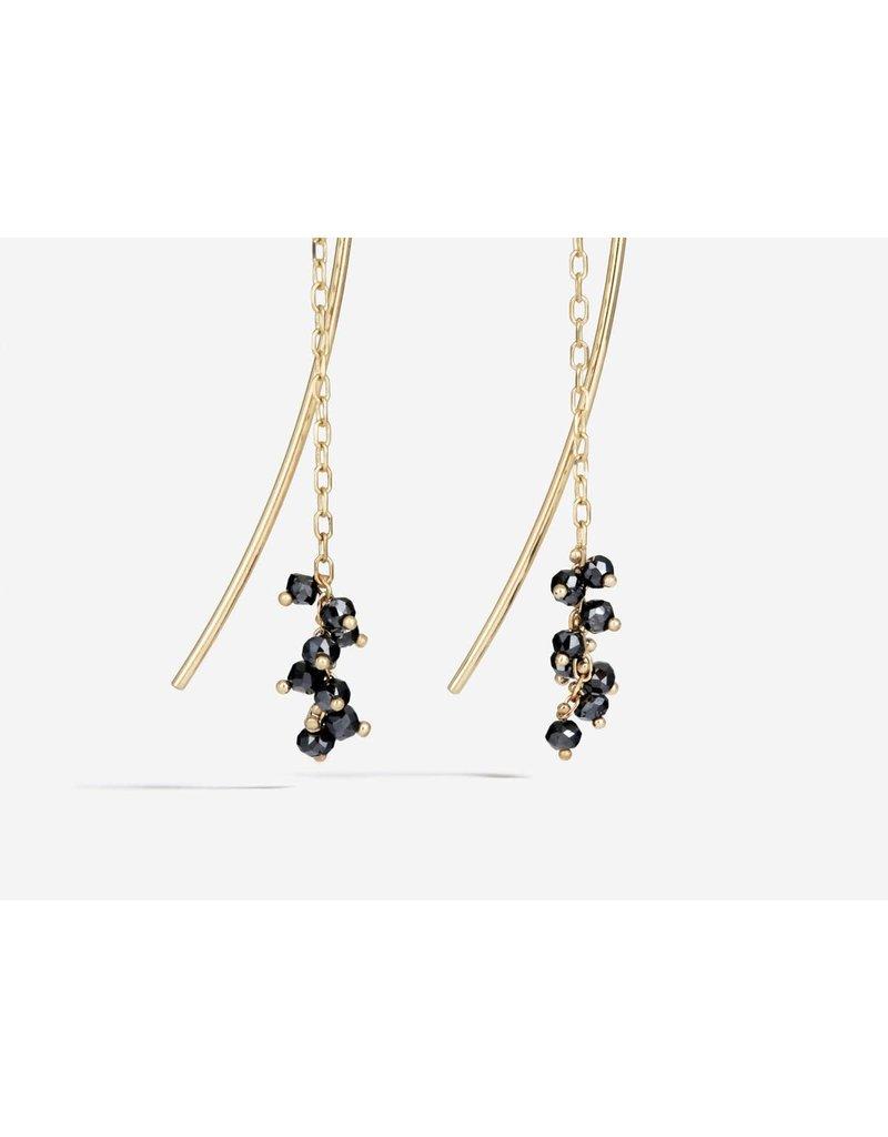 SHAESBY Black Diamond Rondelle Thread Thru
