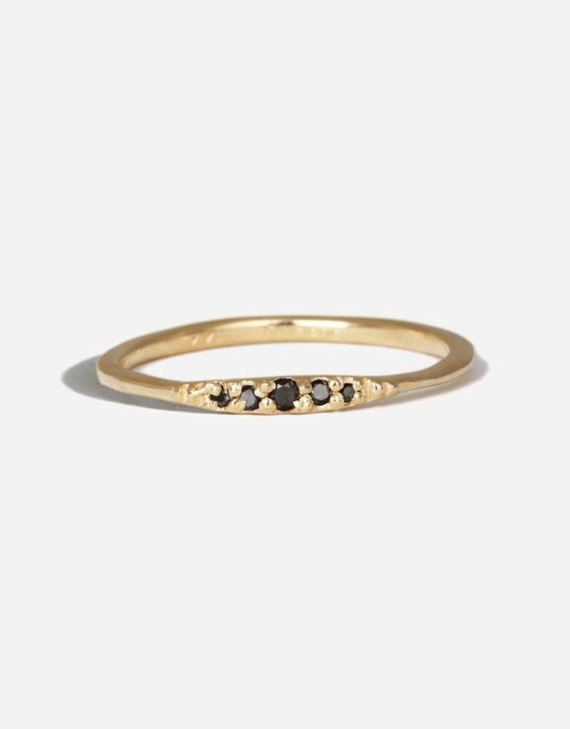 SHAESBY Flamenco Stack Ring - Black Diamond