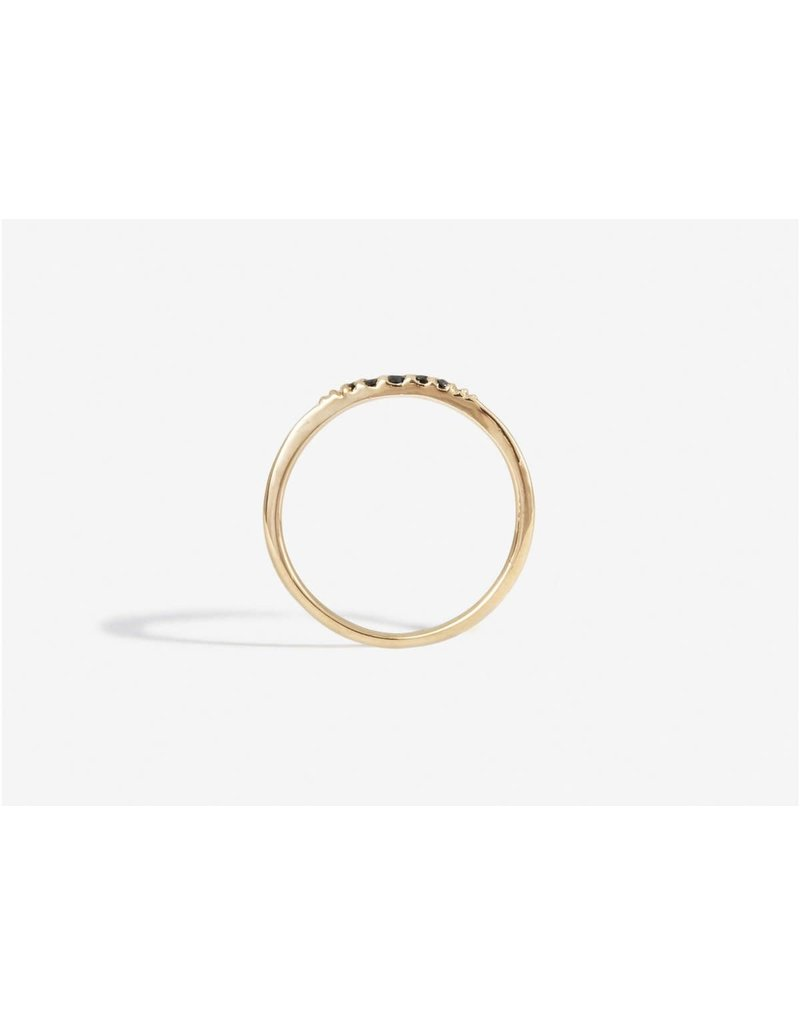 SHAESBY Flamenco Stack Ring - Black Diamond