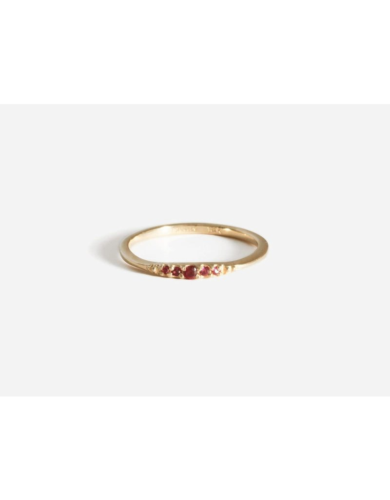 SHAESBY Flamenco Stack Ring - Ruby