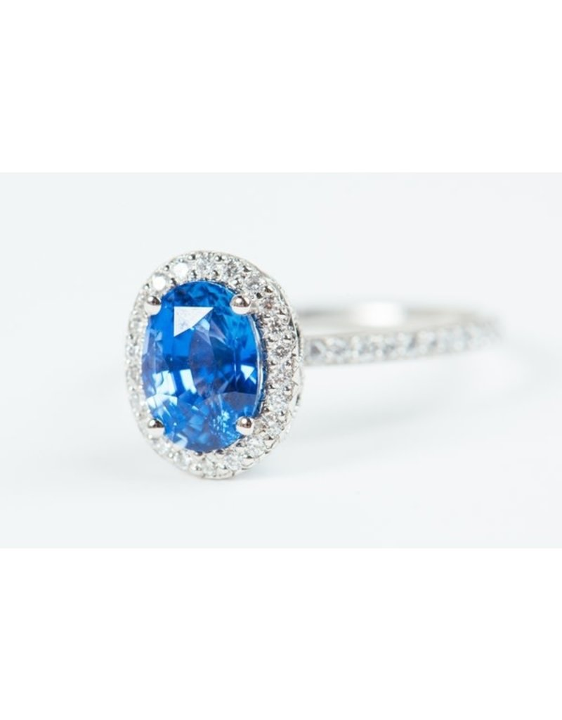ERICA COURTNEY Emani Ring with Blue Sapphire