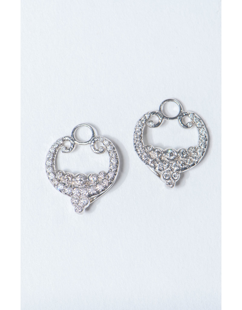 ERICA COURTNEY Platinum Laura Earrings