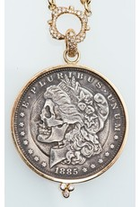 ERICA COURTNEY Dia De Los Gorgeous 1815 Coin Pendant